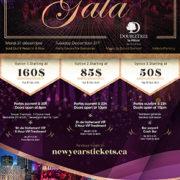DoubleTree By Hilton NYE 2020 Gala Flyer