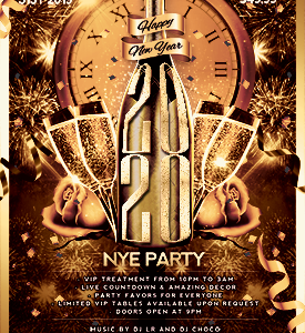Copacaban NYE 2020 flyer