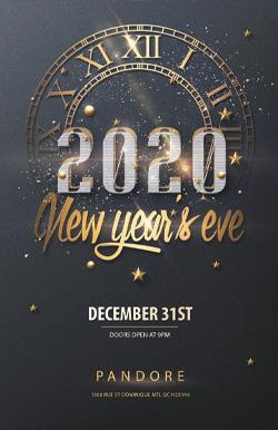 Penthouse NYE 2020 Pandore flyer
